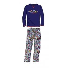 Pijama de invierno hombre SOY Interlock Chapas