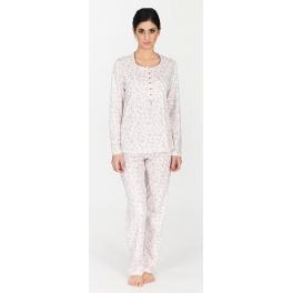 Pijama de invierno mujer EGATEX Estampado Flores