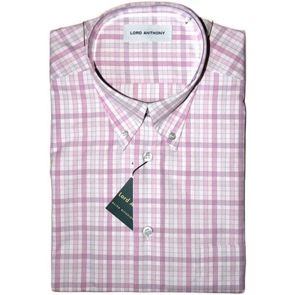 503ec65dd2 Camisa · Popelín · Manga corta · Hombre · LORD ANTHONY · cuadros rosa
