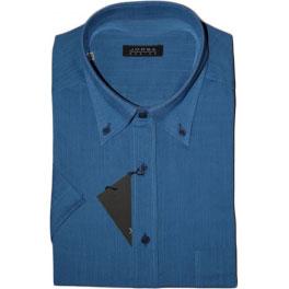 Camisa popelín manga corta hombre JORSA lisa azul
