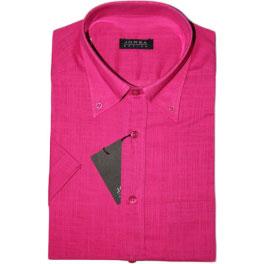 Camisa popelín manga corta hombre JORSA lisa rosa