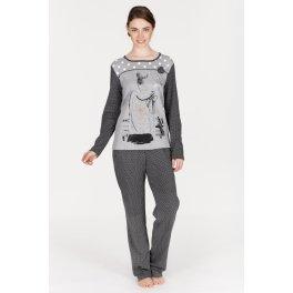 Pijama de invierno mujer EGATEX I Love Paris