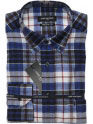 Camisa · Franela · Hombre · LORD ANTHONY · cuadros azul · gris