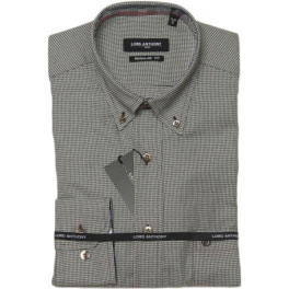 Camisa viella hombre LORD ANTHONY pata gallo gris