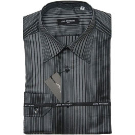 Camisa popelín hombre LORD ANTHONY rayas gris