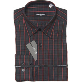 Camisa popelín hombre LORD ANTHONY cuadros gris
