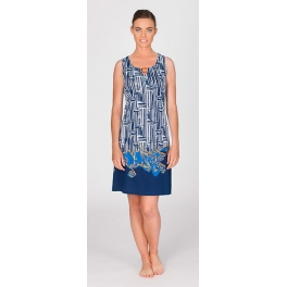 Vestido de verano · Adorno sin mangas marino · Egatex