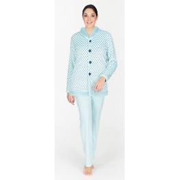 Conjunto bata corta y Pijama de invierno mujer EGATEX Celosías