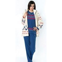Conjunto bata corta y Pijama de invierno mujer EGATEX Winter